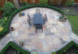 Round Flagstone Patio