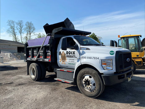 Rock Products, Inc. truck in yard