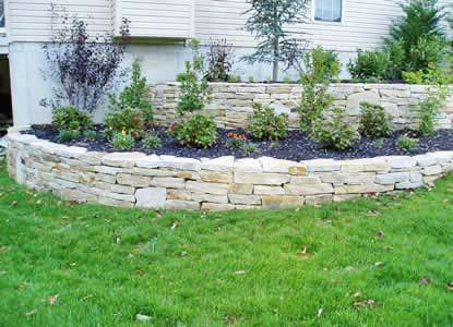 landscape stone installation